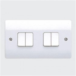 MK Electric Logic Plus™ White 10A 4 Gang Switch