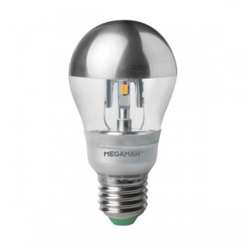 Megaman 5W 2800K Dimmable E27 Crown Silver LED Classic Bulb