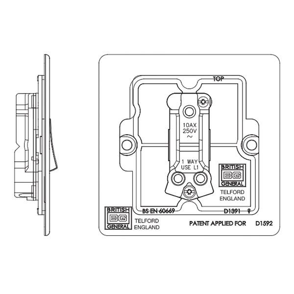 Bg Nexus Flatplate Screwless Switch  Fbn12  At Uk