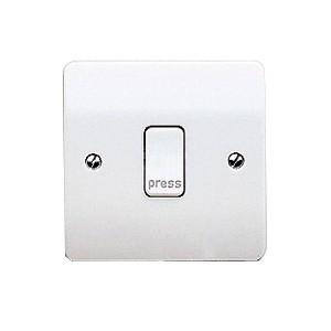 MK Electric Logic Plus™ White 10A 1 Gang Push Switch