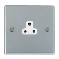 Hamilton Hartland Satin Chrome 1 Gang 2A Unswitched Socket with White Insert