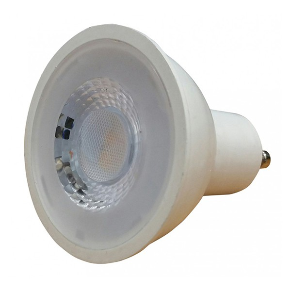 save light halo cob 7w warm white dimmable gu10 led spotlight at uk electrical supplies. Black Bedroom Furniture Sets. Home Design Ideas
