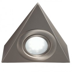 Knightsbridge Mini Triangular Brushed Chrome LED Under Cabinet Light