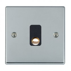 Hamilton Hartland Bright Chrome 20A Cable Outlet with Black Insert