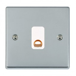 Hamilton Hartland Bright Chrome 20A Cable Outlet with White Insert