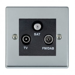 Hamilton Hartland Bright Chrome TV+FM+SAT (DAB Compatible) with Black Insert