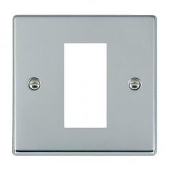 Hamilton Hartland EuroFix Plates Bright Chrome Single Plate c/w 1 EuroFix Apertures + Grid