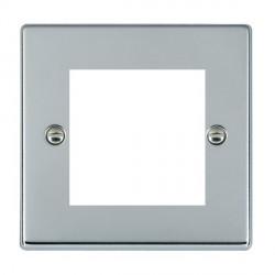 Hamilton Hartland EuroFix Plates Bright Chrome Single Plate c/w 2 EuroFix Apertures + Grid