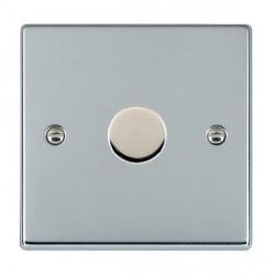 Hamilton Hartland Bright Chrome Push On/Off Dimmer 1 Gang 2 way Inductive 200VA with Bright Chrome Insert