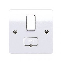 MK Electric Logic Plus™ White 13A Double Pole Switched Fused Connection Unit