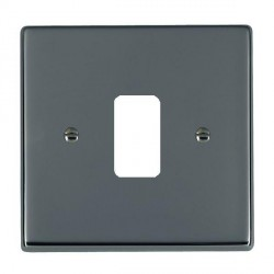 Hamilton Hartland Grid Black Nickel 1 Gang Grid Fix Aperture Plate with Grid