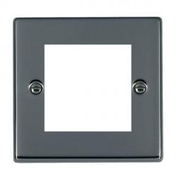 Hamilton Hartland EuroFix Plates Black Nickel Single Plate c/w 2 EuroFix Apertures + Grid