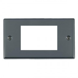 Hamilton Hartland EuroFix Plates Black Nickel Double Plate c/w 3 EuroFix Apertures + Grid