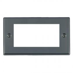 Hamilton Hartland EuroFix Plates Black Nickel Double Plate c/w 4 EuroFix Apertures + Grid