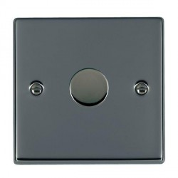 Hamilton Hartland Black Nickel Push On/Off Dimmer 1 Gang 2 way Inductive 300VA with Black Nickel Insert