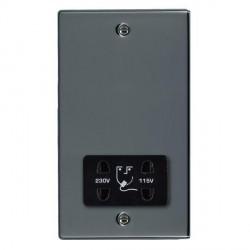 Hamilton Hartland Black Nickel Shaver Socket Dual Voltage with Black Insert