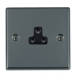 Hamilton Hartland Black Nickel 1 Gang 2A Unswitched Socket with Black Insert