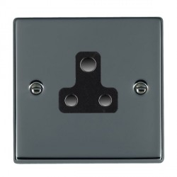 Hamilton Hartland Black Nickel 1 Gang 5A Unswitched Socket with Black Insert