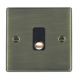 Hamilton Hartland Antique Brass 20A Cable Outlet with Black Insert