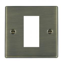 Hamilton Hartland EuroFix Plates Antique Brass Single Plate c/w 1 EuroFix Apertures + Grid