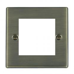 Hamilton Hartland EuroFix Plates Antique Brass Single Plate c/w 2 EuroFix Apertures + Grid