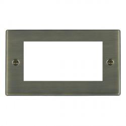 Hamilton Hartland EuroFix Plates Antique Brass Double Plate c/w 4 EuroFix Apertures + Grid