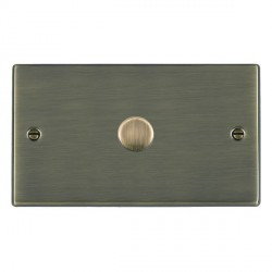 Hamilton Hartland Antique Brass Push On/Off Dimmer 1 Gang 2 way 1000W with Antique Brass Insert