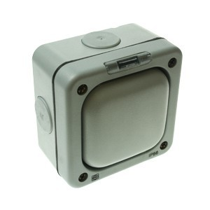 MK Electric Masterseal Plus™ Grey 1 Gang IP66 Switch Enclosure