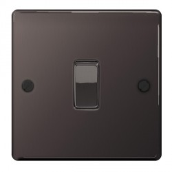 BG Nexus Flatplate Black Nickel 10A 1 Gang Intermediate Switch
