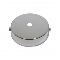 S. Lilley & Son 80mm Single Hole Nickel Ceiling Plate