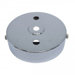 S. Lilley & Son 100mm Three Hole Chrome Ceiling Plate