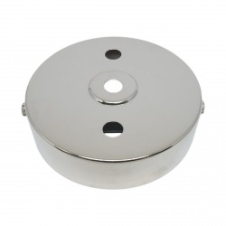 S. Lilley & Son 100mm Three Hole Nickel Ceiling Plate