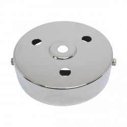 S. Lilley & Son 100mm Four Hole Nickel Ceiling Plate