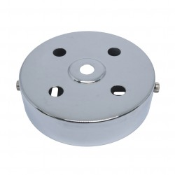 S. Lilley & Son 100mm Five Hole Chrome Ceiling Plate