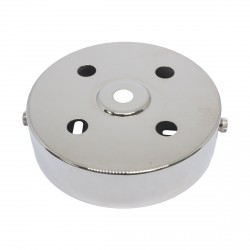 S. Lilley & Son 100mm Five Hole Nickel Ceiling Plate