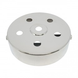S. Lilley & Son 100mm Six Hole Nickel Ceiling Plate