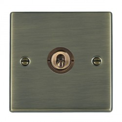 Hamilton Hartland Antique Brass 1 Gang Push To Make Retractive Dolly with Antique Brass Insert