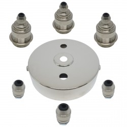 S. Lilley & Son 100mm Three Light Nickel Pendant Kit