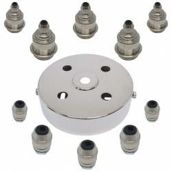 S. Lilley & Son 100mm Five Light Nickel Pendant Kit
