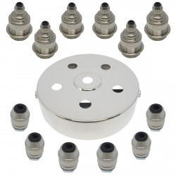 S. Lilley & Son 100mm Six Light Nickel Pendant Kit