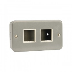 Click Metal Clad CL404 2x2 Aperture Minigrid Module Plate and Backbox