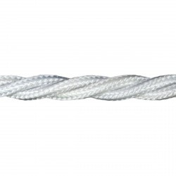 1m Length of White Braided Cable
