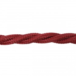 1m Length of Burgundy Braided Cable