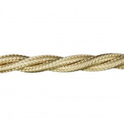 1m Length of Sand Braided Cable