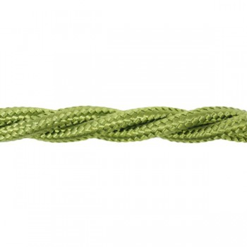 1m Length of Moss Green Braided Cable