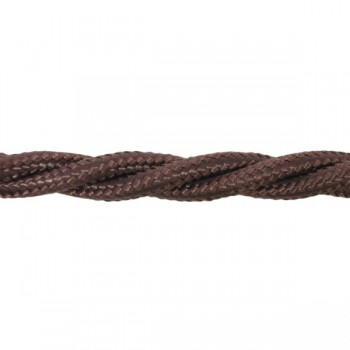 1m Length of Dark Brown Braided Cable