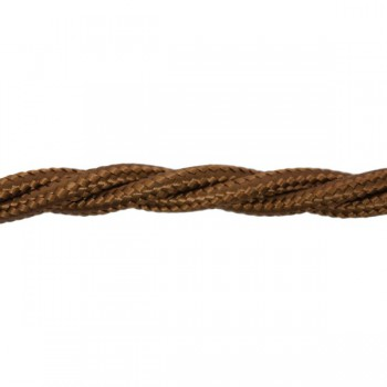 1m Length of Brown Braided Cable