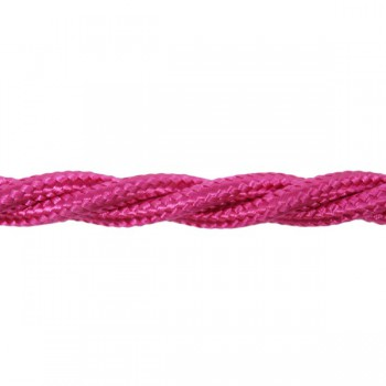 1m Length of Lilac Braided Cable