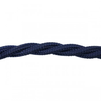 1m Length of Dark Blue Braided Cable