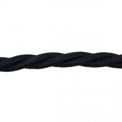 1m Length of Black Braided Cable